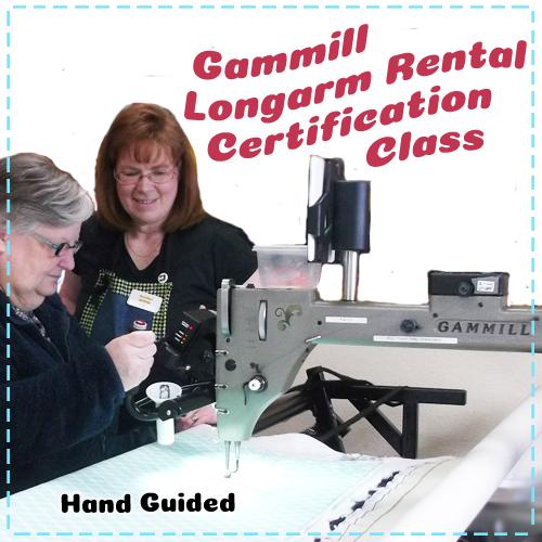 Gammill Longarm Quilting Machine - Beginner Free-Motion Quilting - Rental Certification Class