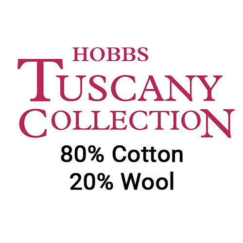 Tuscany Natural 80/20 Cotton/Wool Blend Quilt Batting