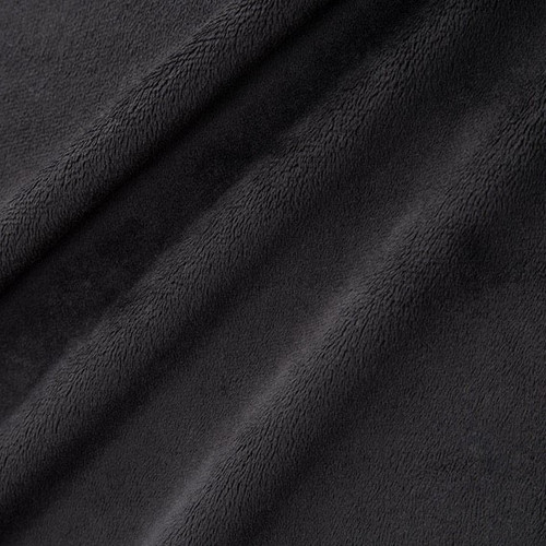 "Black 60"" Solid Minky Cuddle Fabric"