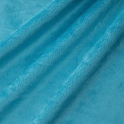 "Dark Turquoise 60"" Solid Minky Cuddle Fabric"
