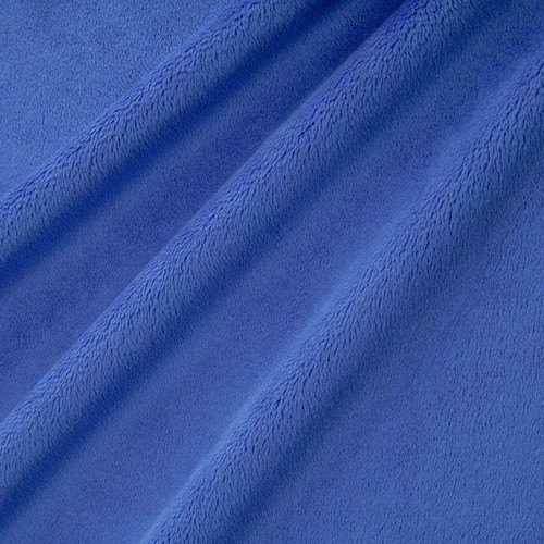 """Electric Blue 60"""" Solid Minky Cuddle Fabric"""
