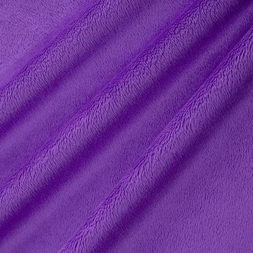 "Purple 60"" Solid Minky Cuddle Fabric"