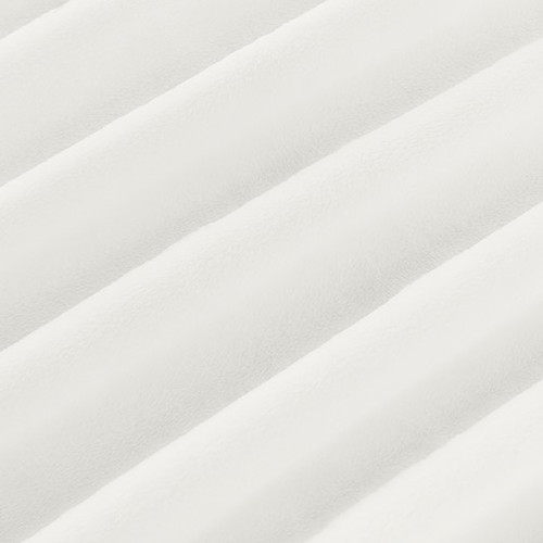 """White 60"""" Solid Minky Cuddle Fabric"""