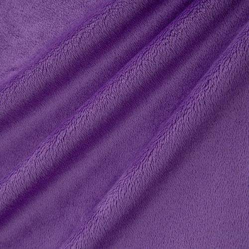 "Amethyst 90"" Solid Minky Cuddle Wide Back Fabric"