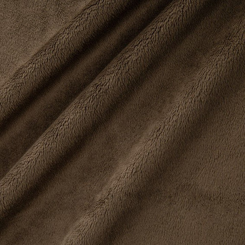 "Brown 90"" Solid Minky Cuddle Wide Back Fabric"