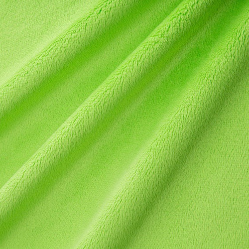 "Dark Lime 90"" Solid Minky Cuddle Wide Back Fabric"