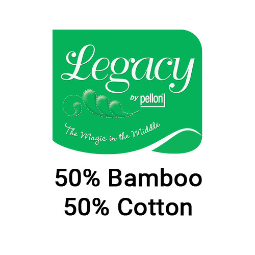 Legacy Natural 50/50 Bamboo/Cotton Blend Needlepunched Quilt Batting with Scrim
