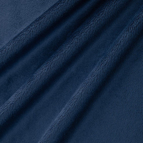 """Navy 90"""" Solid Minky Cuddle Wide Back Fabric"""