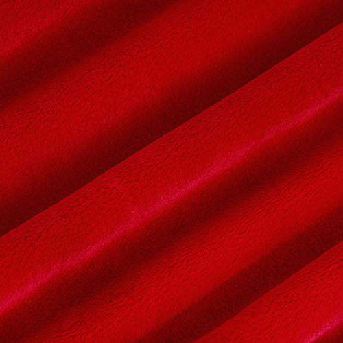 """Scarlet 90"""" Solid Minky Cuddle Wide Back Fabric"""