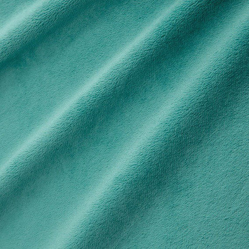 """Teal 90"""" Solid Minky Cuddle Wide Back Fabric"""
