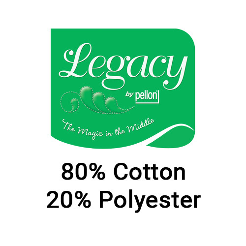 Legacy Natural 80/20 Unbleached Cotton/Polyester Blend Quilt Batting