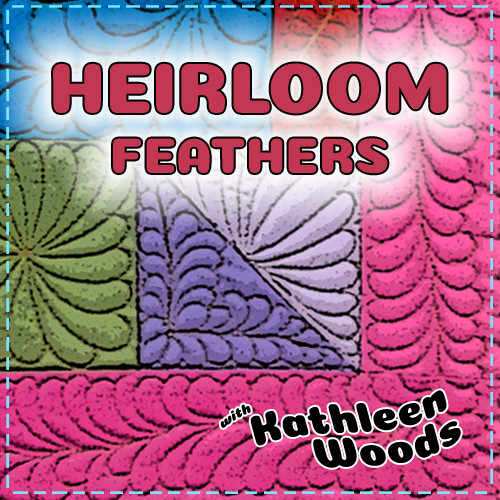 Heirloom Feathers - Free-Motion Quilting - Drawing Class