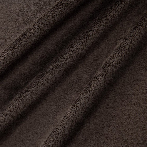 """Chocolate 90"""" Solid Minky Cuddle Wide Back Fabric"""