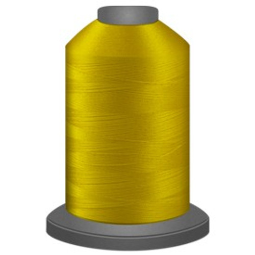 Glide - Bright Yellow - 80108 - Cone - 5500 yds - Trilobal Poly No. 40 Embroidery & Machine Quilting Thread
