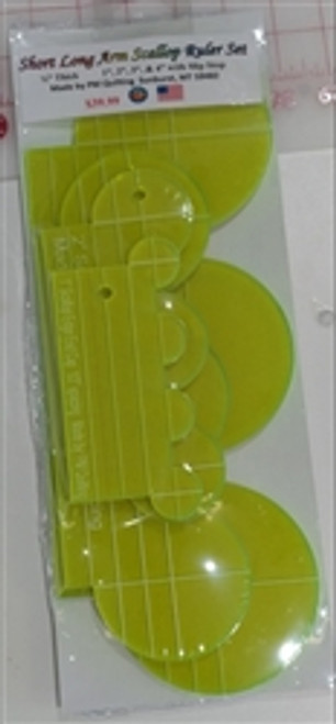 Longarm Scallop Glow Edge Ruler Set from PM Quilting