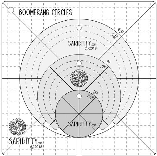 Boomerang & Circles Longarm Ruler Set