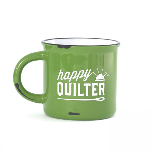 Happy Quilter 15 oz Stoneware Mug