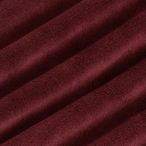 "Merlot 90"" Solid Minky Cuddle Wide Back Fabric"