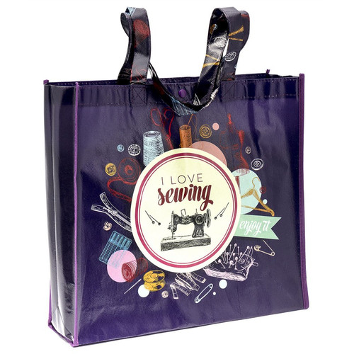 """I Love Sewing"" Tote Bag - Designed by Kelli Fannin"