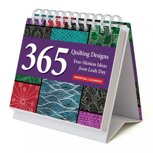365 Quilting Ideas Perpetual Calendar - Free-Motion Ideas from Leah Day