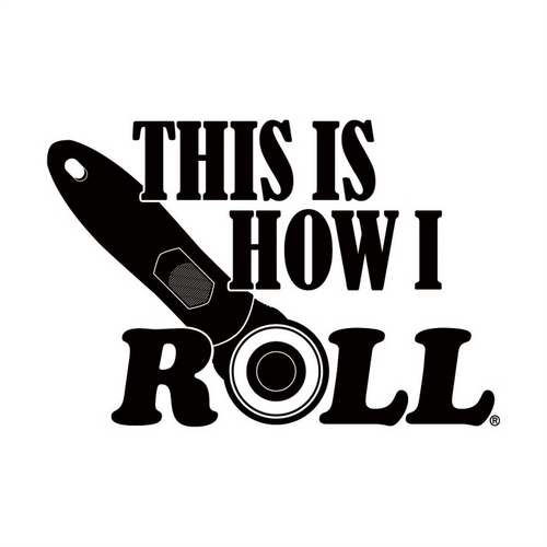 """""""This is How I Roll"""" White Vinyl Window Decal"""