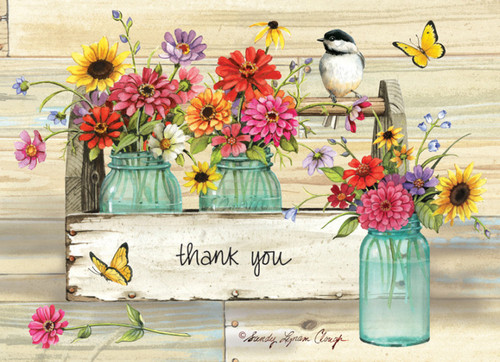 """Thank You"" Boxed Note Card Set by Sandy Lynam Clough"