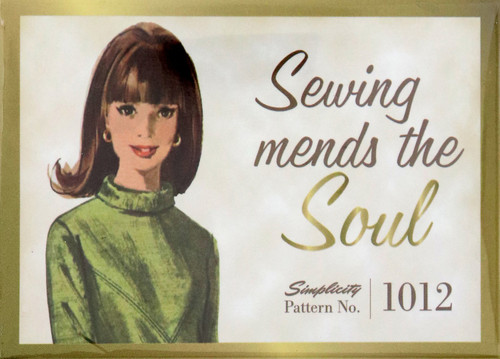 """Sewing Mends the Soul"" Magnet"