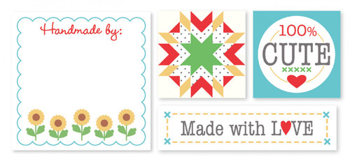 Autumn Love Woven Quilt Labels Designed by Lori Holt - Set of 12