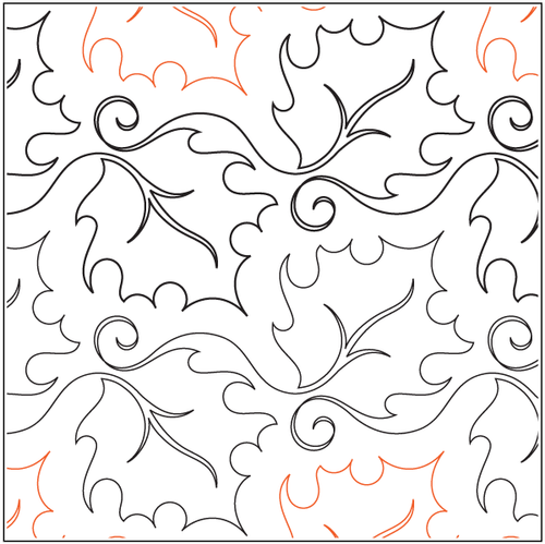 """Curly Maple 8"""" Pantograph / E2E Quilting Design on Paper"""
