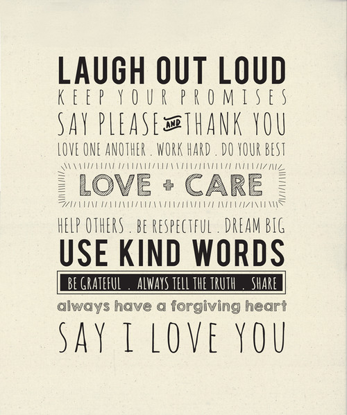 """Use Kind Words - 54"""" x 65"""" Quilt Panel Fabric"""