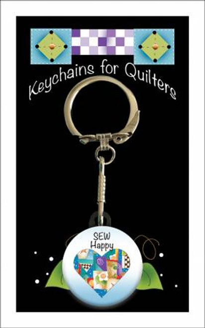 """Sew Happy"" Keychain by Jody Houghton"