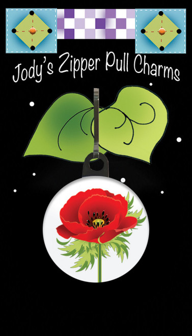 Poppy Zipper Pull Charm