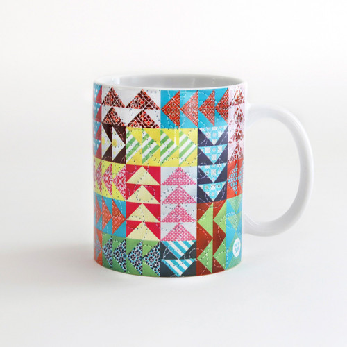 Quilt Happy Flying Geese Mug