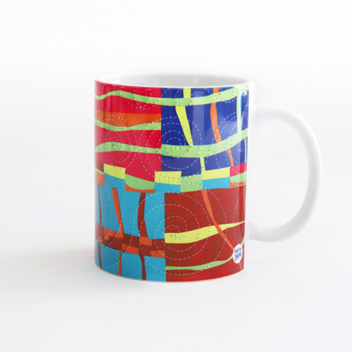 Quilt Happy Modern Strings Mug