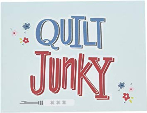 """Quilt Junky"" Note Card"