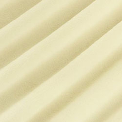 "Vanilla 60"" Solid Minky Cuddle Fabric"