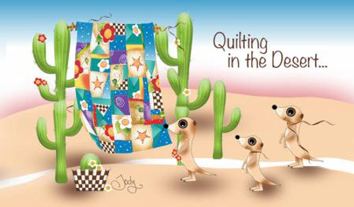 Quilting In the Desert Laminated Magnet