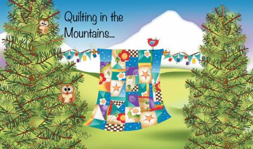 Quilting In the Mountains Laminated Magnet