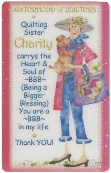 Sisterhood of Quilters - Charity Laminated Magnet
