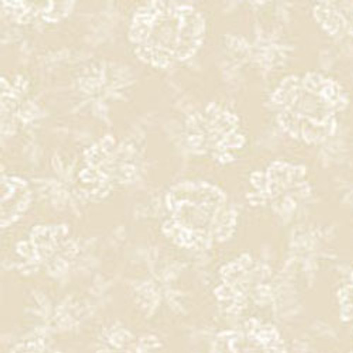 "Shadow Flowers Linen 108"" Cotton Wide Back Quilt Fabric"