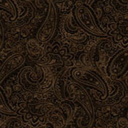 "Radiant Paisley Chestnut 108"" Cotton Wide Back Quilt Fabric"