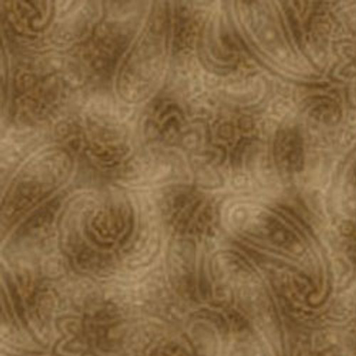 "Radiant Paisley Sepia 108"" Cotton Wide Back Quilt Fabric"