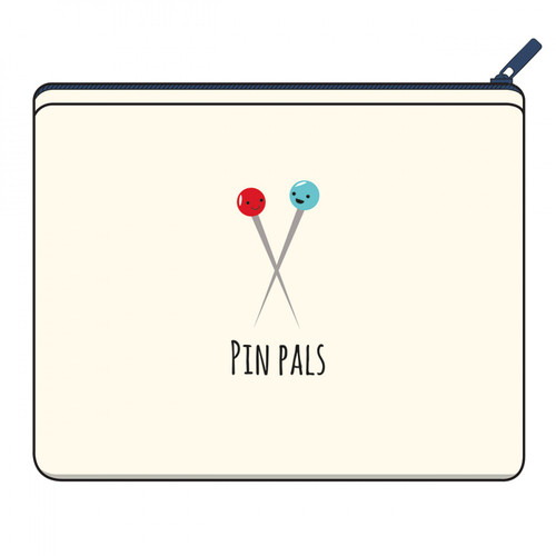 Pin Pals Canvas Zipper Pouch - Designed by Kelli Fannin from Riley Blake Designs