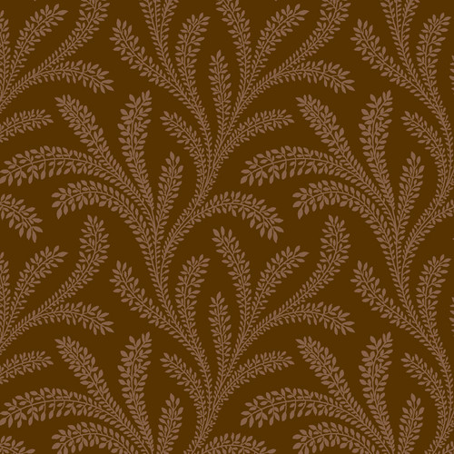 "Historical Vines Brown 108"" Cotton Wide Back Quilt Fabric"