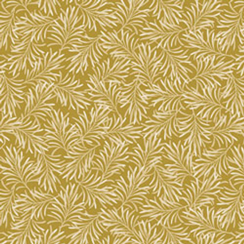 """Boughs of Beauty - Antique Gold 108"""" Cotton Wide Back Quilt Fabric"""