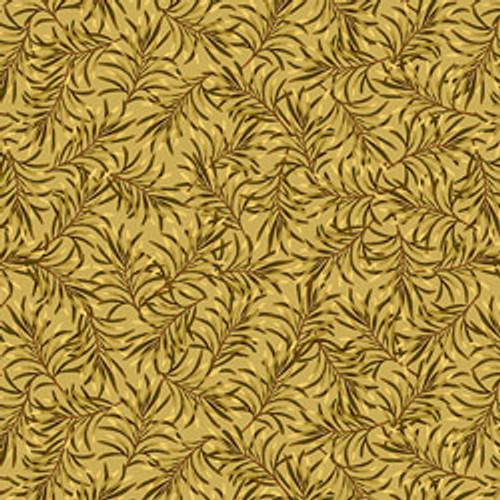 """Boughs of Beauty - Golden Rod 108"""" Cotton Wide Back Quilt Fabric"""