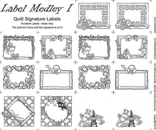 Medley Labels Panel - Set of 14 Cut Apart Labels