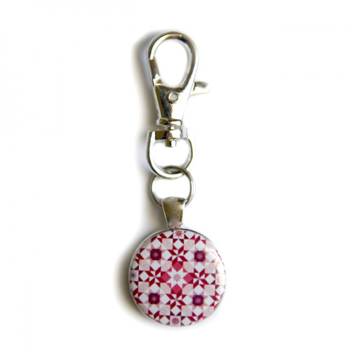"""Stardust"" Red Scissor Fob with Swivel Clip Keychain"