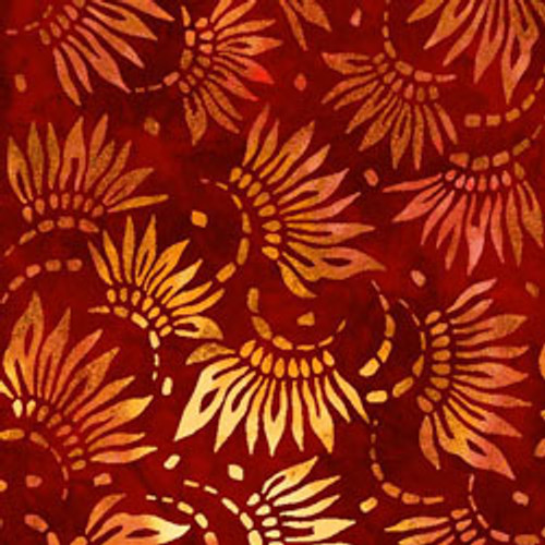 "Petals Red 108"" Cotton Wide Back Quilt Fabric"