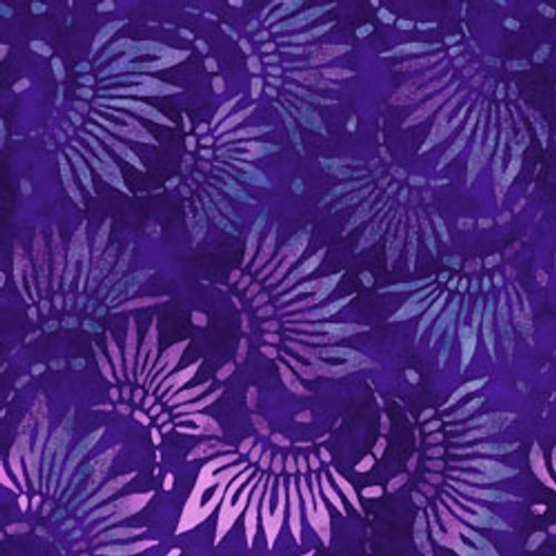 "Petals Purple 108"" Cotton Wide Back Quilt Fabric"